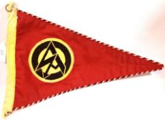 German Third Reich type SA pennant, L: 37 cm. P&P Group 1 (£14+VAT for the first lot and £1+VAT