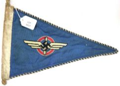 German Third Reich NSFK pennant, L: 35 cm. P&P Group 1 (£14+VAT for the first lot and £1+VAT for
