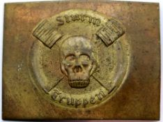 German WWI type Storm Trooper belt buckle. P&P Group 1 (£14+VAT for the first lot and £1+VAT for