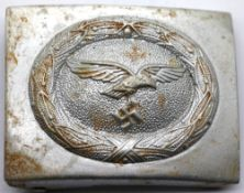 German WWII type Luftwaffe belt buckle. P&P Group 1 (£14+VAT for the first lot and £1+VAT for