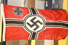 German WWII type Kriegsmarine flag, 60 x 90 cm. P&P Group 1 (£14+VAT for the first lot and £1+VAT