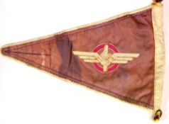 German Third Reich type NSKK pennant, L: 33 cm. P&P Group 1 (£14+VAT for the first lot and £1+VAT