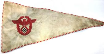 German Third Reich type NSKK pennant, L: 34 cm. P&P Group 1 (£14+VAT for the first lot and £1+VAT