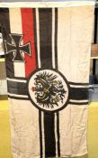 German Imperial WW1 type Battle flag, 150 x 90 cm. P&P Group 1 (£14+VAT for the first lot and £1+VAT