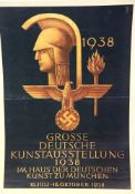 German Third Reich type 1938 poster, 40 x 28 cm. P&P Group 1 (£14+VAT for the first lot and £1+VAT