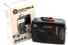 GPO personal FM radio and cassette player, 3.5mm phone jack and 3V DC in jack, with built in