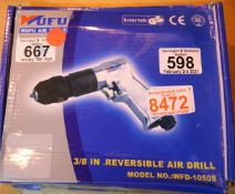 3/8 inch reversible air drill. P&P Group 1 (£14+VAT for the first lot and £1+VAT for subsequent