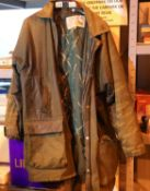 Gents Country Collection size M wax jacket and a pair of size 8 leather shoes. P&P Group 2 (£18+