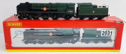 Hornby R2204 Merchant Navy Boxed (Box Torn) with Instructions, but lacking Detail Pack, 1x
