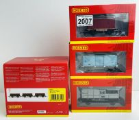 6x Hornby Freight Wagons - Consisting of: R6712 (Pack of 3), R6776, R6759B, R6694 All Boxed P&P