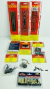 An Ensemble of Bachmann & Hornby Accessories to Include: Points, People, 2x Sound Decoders (