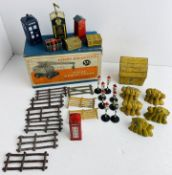 Quantity of Playworn Dinky Toys, Minic Cars & Accessories with 1x Dinky Supertoys 571 Empty Box P&