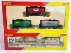 Hornby R6369 & R6789 Triple Fuel Tanker Pack & Breakdown Crane Both Boxed P&P Group 1 (£14+VAT for