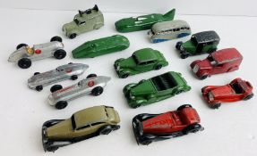 25x Play Worn DINKY TOYS Die - Cast Cars & Vans - See Pictures. P&P Group 2 (£18+VAT for the first