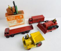 19x Playworn DINKY TOYS Cars, Tractors etc - Boxed Fork Lift P&P Group 2 (£18+VAT for the first