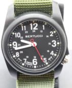 Gents Bertucci army field wristwatch, new and boxed. P&P Group 2 (£18+VAT for the first lot and £3+