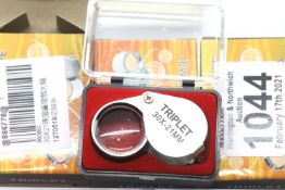 Three boxed new old stock 30x21 jewellery loupes. P&P Group 1 (£14+VAT for the first lot and £1+