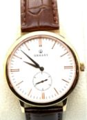 New boxed Ornake gents wristwatch with Japanese Mituyo movement and gold with white face. P&P