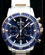 Gents Bulova Marine Star 200 wristwatch. P&P Group 1 (£14+VAT for the first lot and £1+VAT for