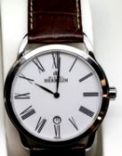 Gents Michel Herbelin calendar wristwatch. P&P Group 1 (£14+VAT for the first lot and £1+VAT for