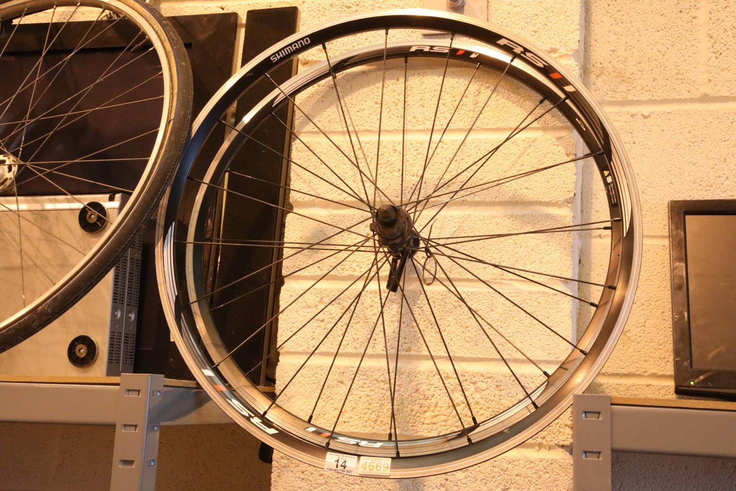 Two Shimano bike wheels. Not available for in-house P&P, contact Paul O'Hea at Mailboxes on 01925