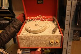 Dansette Popular four speed vintage record player. Not available for in-house P&P, contact Paul O'