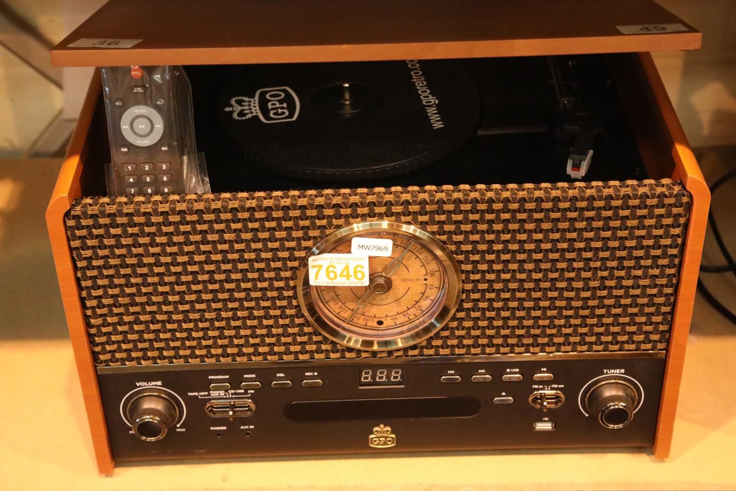 GPO Chesterton music system. Not available for in-house P&P, contact Paul O'Hea at Mailboxes on