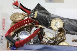 Box of mixed wristwatches mainly Sekonda. P&P Group 2 (£18+VAT for the first lot and £3+VAT for