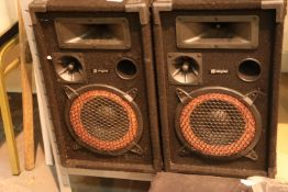 Pair of Skytec 500w speakers. Not available for in-house P&P, contact Paul O'Hea at Mailboxes on