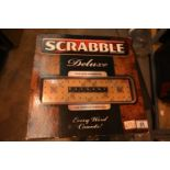 Scrabble deluxe game board. P&P Group 1 (£14+VAT for the first lot and £1+VAT for subsequent lots)
