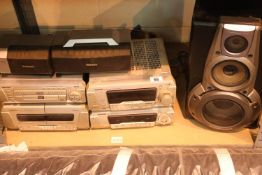 Mixed lot of Technics Hi-Fi separates. Not available for in-house P&P, contact Paul O'Hea at