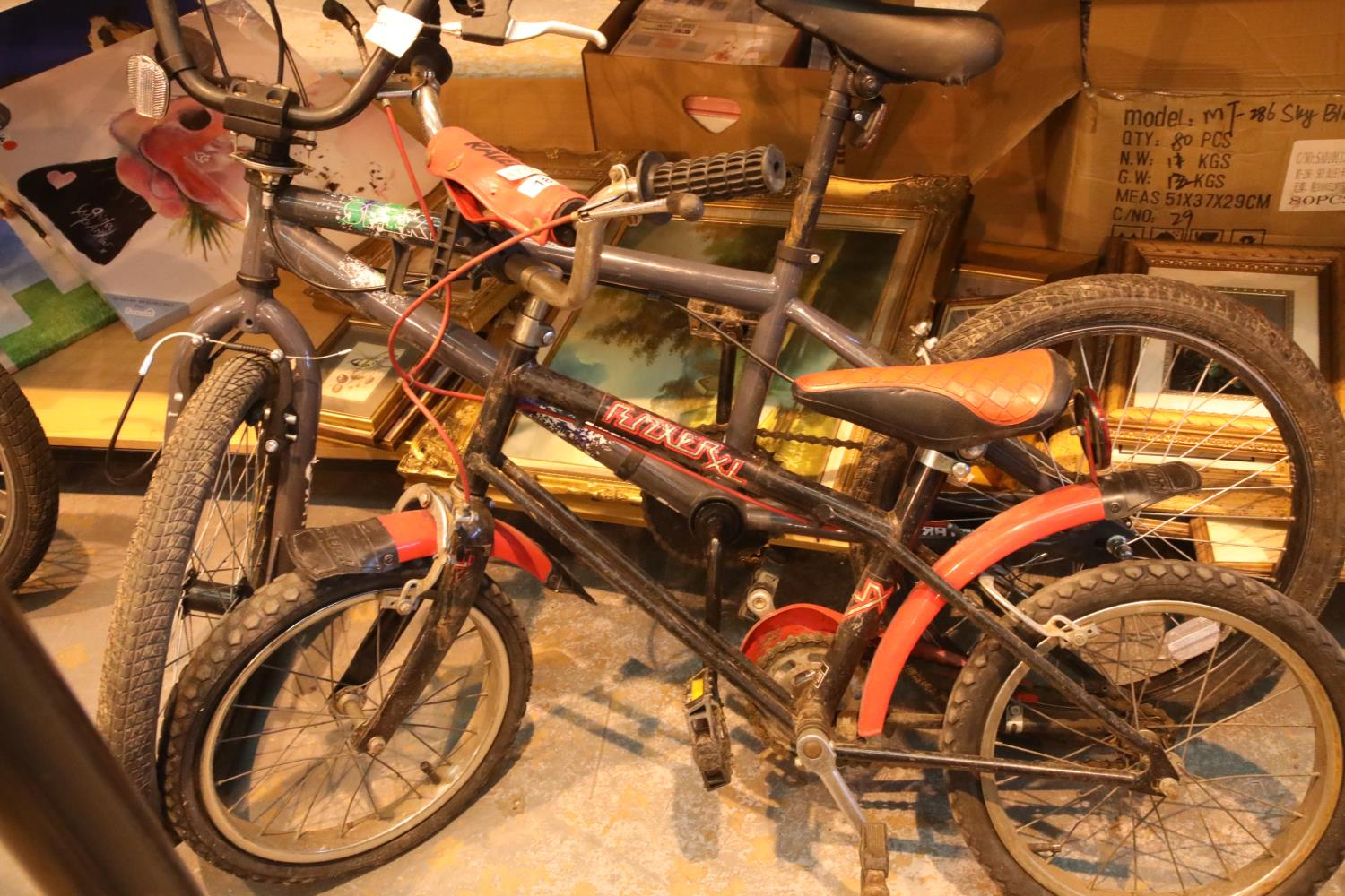 Child's X Rated Spektor bike and a child's boxer bike. Not available for in-house P&P, contact
