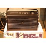 New GPO Darcy a portable analogue FM / AM radio with alarm clock. Old new stock. Preset 20 radio