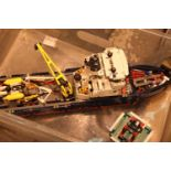 Part built Lego Polar explorer ship. P&P Group 2 (£18+VAT for the first lot and £3+VAT for