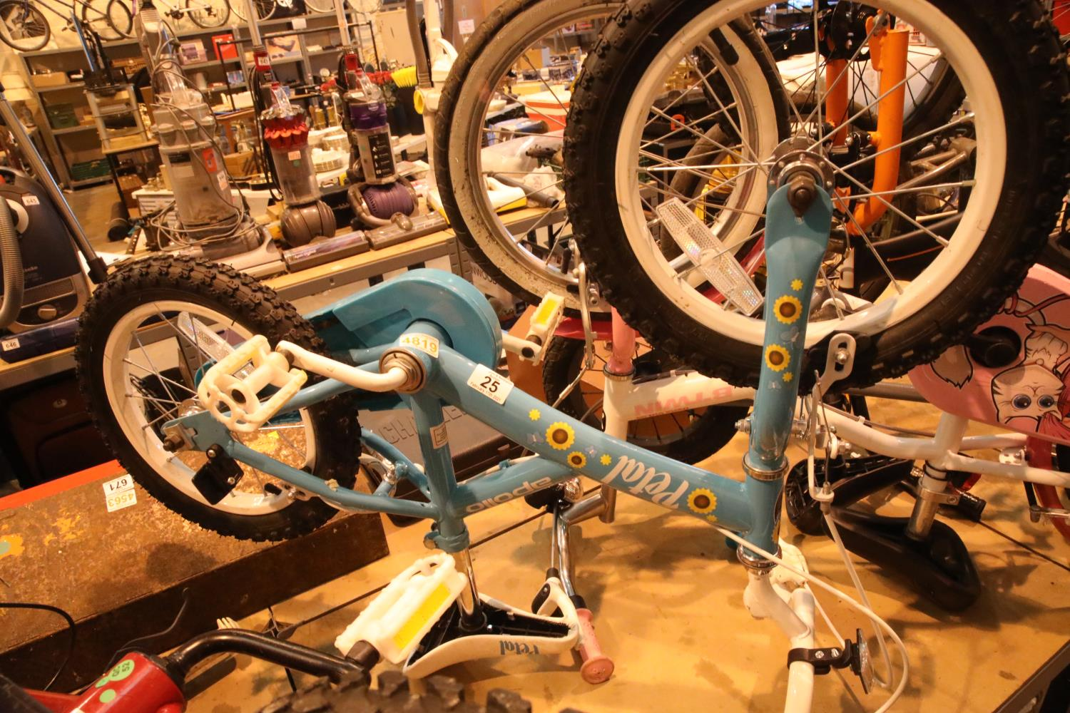 "Apollo Petal child's bike with 14"" wheels. Not available for in-house P&P, contact Paul O'Hea at"