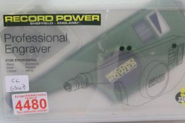 Professional engraver by Record power unused, P&P Group 1 (£14+VAT for the first lot and £1+VAT