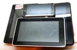 Handheld Blackberry, Kindle, Kurio 7 model CL1100 and a mobile phone. P&P Group 1 (£14+VAT for the