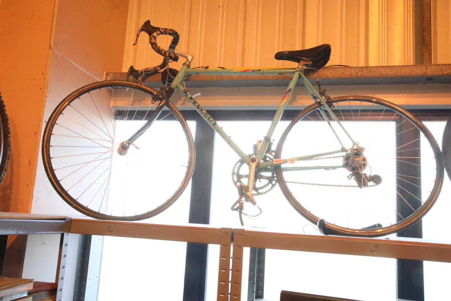 "Peugeot 14 speed gents racing bike with 22"" frame. Not available for in-house P&P, contact Paul O'"
