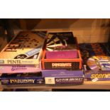 Shelf of mixed modern board games. Not available for in-house P&P, contact Paul O'Hea at Mailboxes
