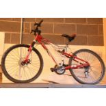 "Apollo FS26X 21 speed bike with mono rear shock and 17"" frame. Not available for in-house P&P,"