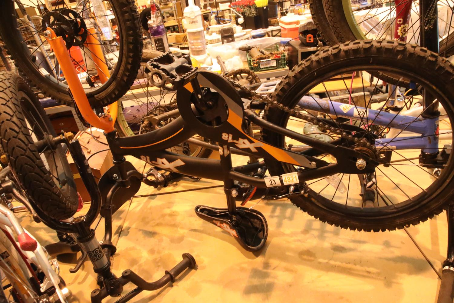 "XTI8 child's mountain bike with 18"" wheels. Not available for in-house P&P, contact Paul O'Hea at"
