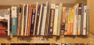 Shelf of mixed maps and travel books. Not available for in-house P&P, contact Paul O'Hea at