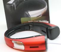 New Red Audiomotion X-9 Bluetooth speaker stand for iPad / Tablet / phone; boxed; working at time of