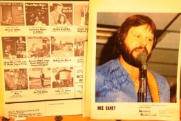 Signed photo and souvenir poster program by the Country singer Moe Bandy. P&P Group 1 (£14+VAT for