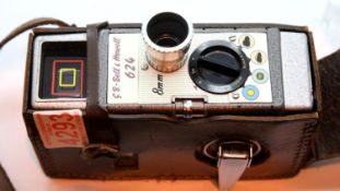Bell and Howell 624 movie camera. P&P Group 2 (£18+VAT for the first lot and £3+VAT for subsequent
