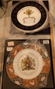 Aynsley and Royal Worcester Queen Elizabeth II Golden Jubilee and Coronation plates, both limited