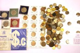 Large collection of predominantly New Zealand coins including cased commemoratives. P&P Group 1 (£