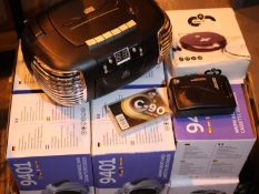 Mixed lot for spares and repairs, 4 x GPO9401 radio, PCD299 radio & personal CD. P&P Group 3 (£25+