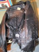 Milan leather jacket, size 12. P&P Group 2 (£18+VAT for the first lot and £3+VAT for subsequent