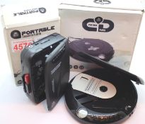 GPO Personal FM radio/ cassette player; GPO personal ?Discman? CD player; earphones, manual and